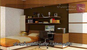 ایده اتاق خواب کودک قهوه ای سفید